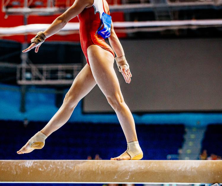 Gymnast scared to do a skill.