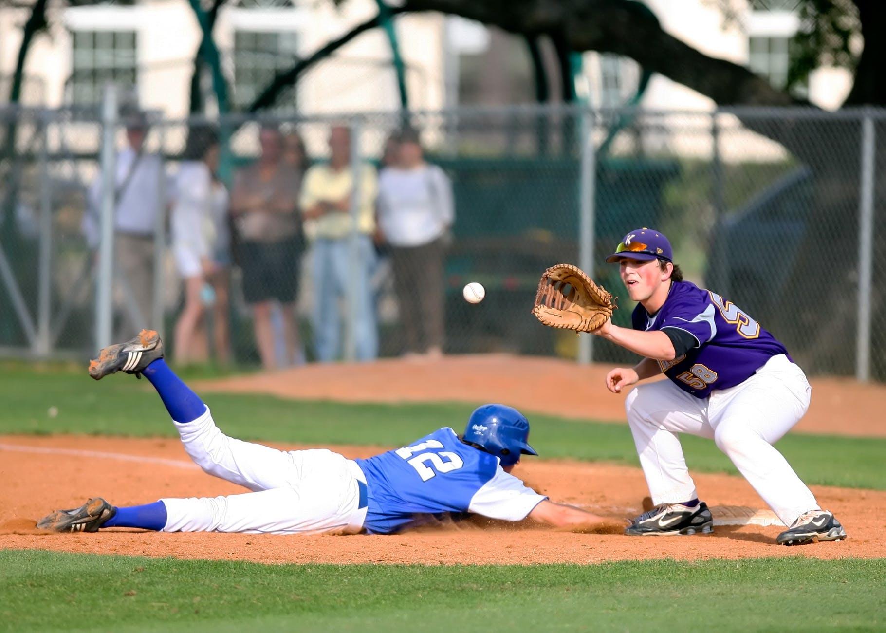 Baseball player using mental skills while in play.